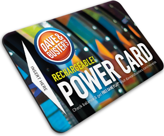 dave and busters power card