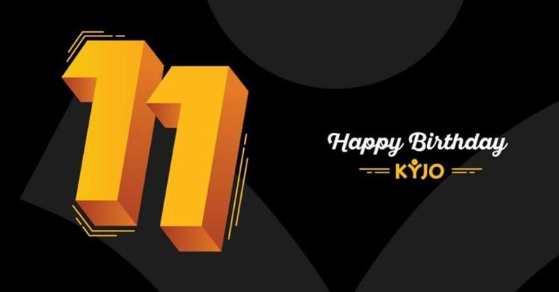 KYJO 11 Anniversary Logo